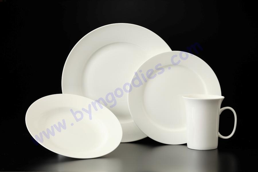 16pc white bone china dinner set